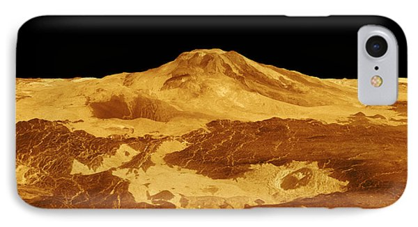 3d Perspective View Of Maat Mons Phone Case by Stocktrek Images
