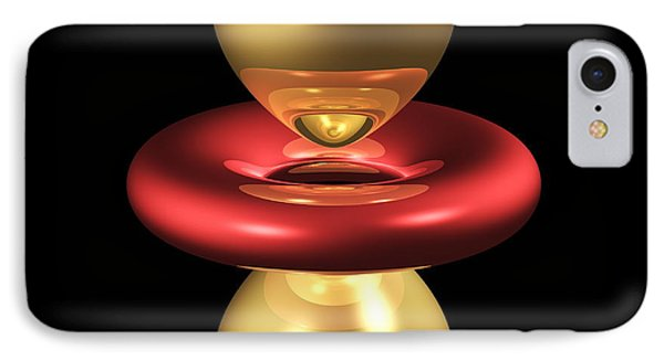 3dz2 Electron Orbital IPhone Case by Dr Mark J. Winter