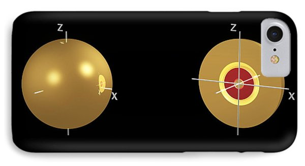 3s Electron Orbital Phone Case by Dr Mark J. Winter