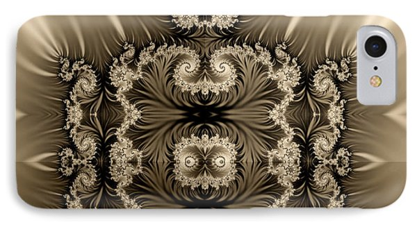IPhone Case featuring the digital art  Fractal by Odon Czintos