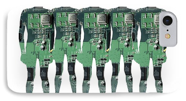 Cybernetics And Robotics Phone Case by Victor De Schwanberg