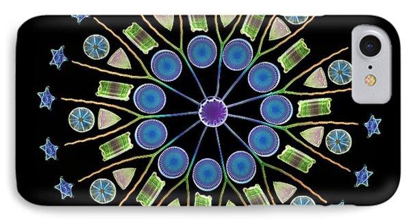 Diatom Assortment, Sems Phone Case by Steve Gschmeissner