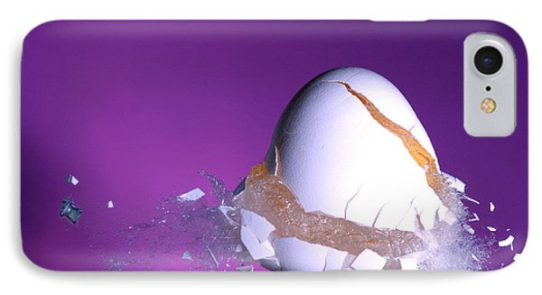 Egg Hit By A Bullet IPhone Case by Ted Kinsman