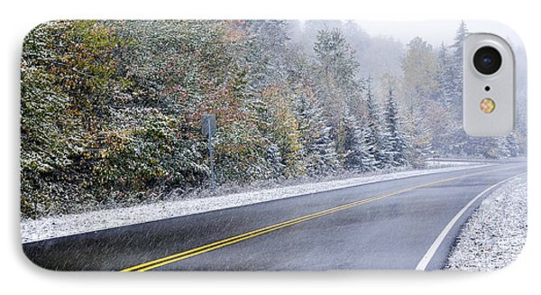 Fall Color And Snow Along The Highland Scenic Highway Phone Case by Thomas R Fletcher