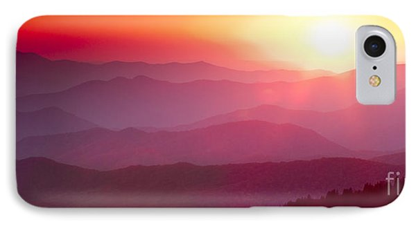 Great Smokie Mountains Sunset Phone Case by Dustin K Ryan