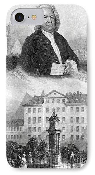 Johann Sebastian Bach Phone Case by Granger
