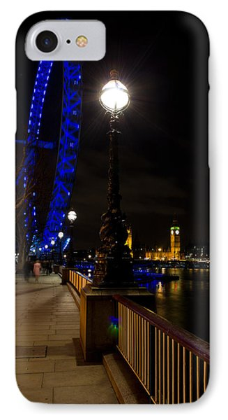 London Eye Night View Phone Case by David Pyatt