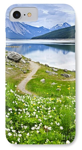 Mountain Lake In Jasper National Park IPhone Case