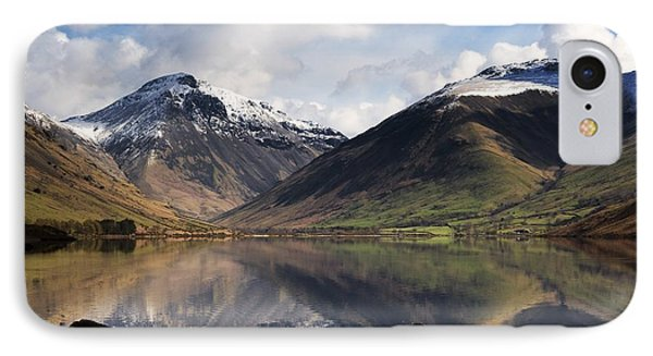 Mountains And Lake, Lake District Phone Case by John Short