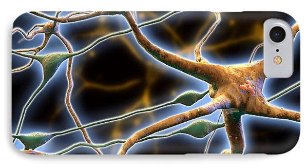 Nerve Cells, Computer Artwork Phone Case by Pasieka