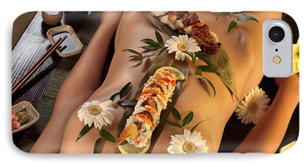 Nyotaimori Body Sushi Phone Case by Oleksiy Maksymenko