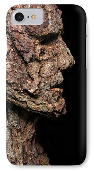 Revered  A Natural Portrait Bust Sculpture By Adam Long Phone Case by Adam Long