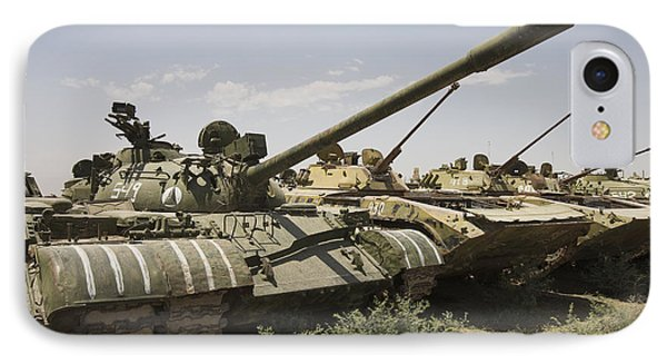 Russian T-54 And T-55 Main Battle Tanks Phone Case by Terry Moore
