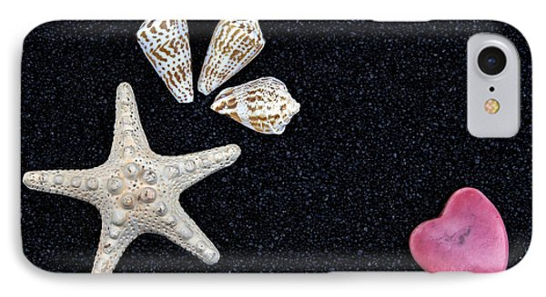 Starfish On Black Sand Phone Case by Joana Kruse