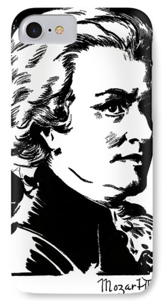 Wolfgang Amadeus Mozart Phone Case by Granger