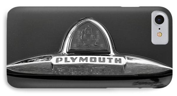 49 Plymouth Emblem Phone Case by David Lee Thompson