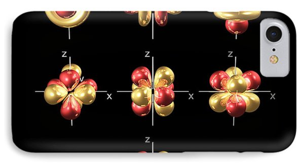4f Electron Orbitals, Cubic Set Phone Case by Dr Mark J. Winter