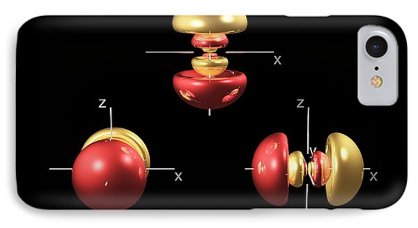 4p Electron Orbitals Phone Case by Dr Mark J. Winter