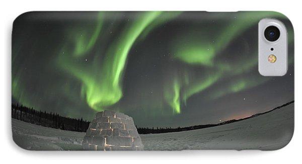 Aurora Borealis Over An Igloo On Walsh Phone Case by Jiri Hermann