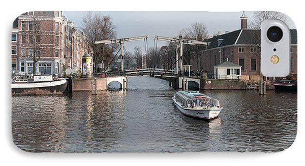 IPhone Case featuring the digital art City Scenes From Amsterdam by Carol Ailles