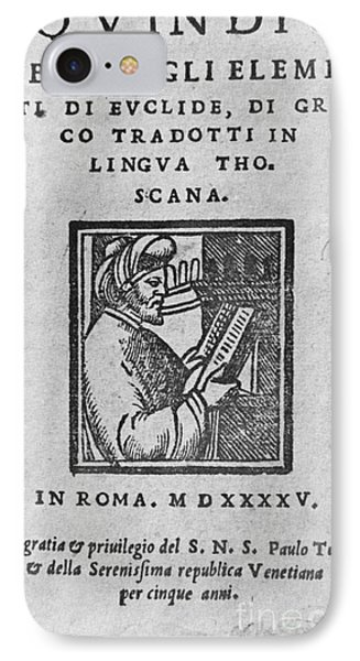 Euclid, Ancient Greek Mathematician Phone Case by Science Source