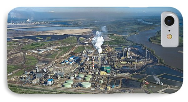 Oil Processing Plant, Athabasca Oil Sands IPhone Case
