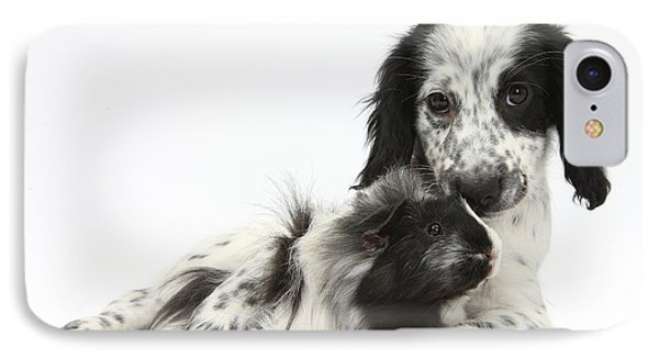 Puppy And Guinea Pig Phone Case by Mark Taylor