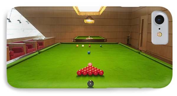Snooker Room Phone Case by Guang Ho Zhu