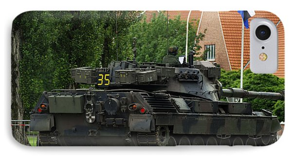 The Leopard 1a5 Mbt Of The Belgian Army Phone Case by Luc De Jaeger