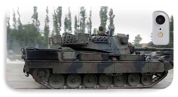 The Leopard 1a5 Of The Belgian Army Phone Case by Luc De Jaeger