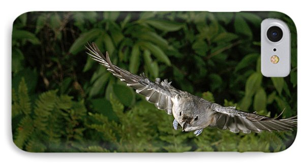 Tufted Titmouse In Flight IPhone 7 Case