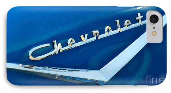 57 Chevy Bel Air Emblem Phone Case by Mark Dodd