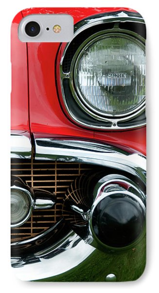 57 Chevy Left Front 8560 Phone Case by Guy Whiteley
