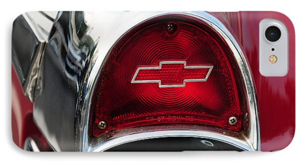 57 Chevy Tail Light Phone Case by Paul Ward