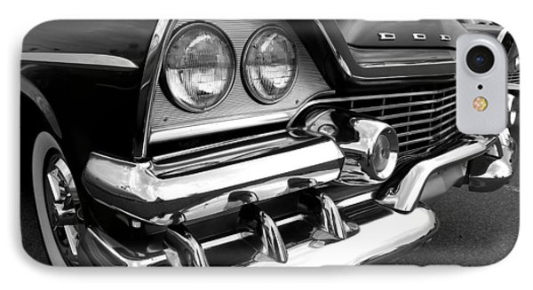 58 Plymouth Fury Black And White IPhone Case