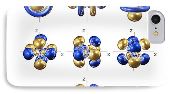 5f Electron Orbitals, Cubic Set Phone Case by Dr Mark J. Winter