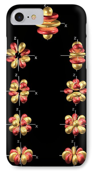 5g Electron Orbitals Phone Case by Dr Mark J. Winter