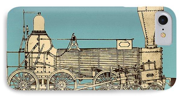 19th Century Locomotive Phone Case by Omikron