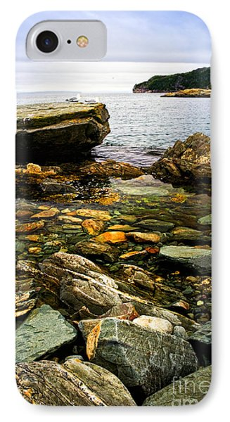 Atlantic Coast In Newfoundland IPhone Case by Elena Elisseeva