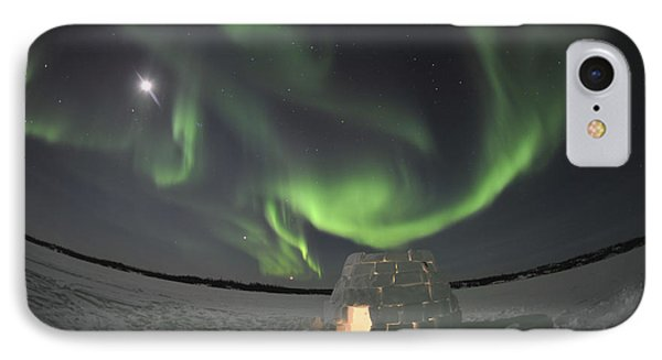 Aurora Borealis Over An Igloo On Walsh Phone Case by Jiri Hermann