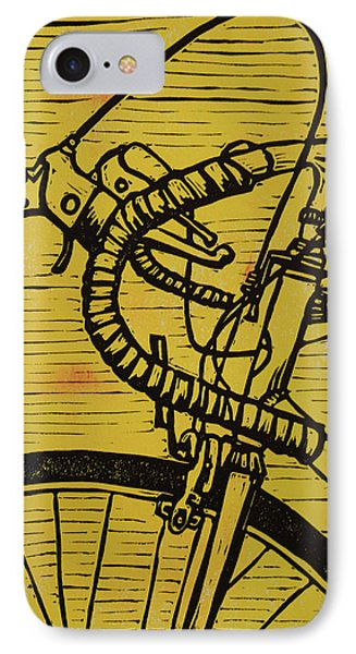 IPhone Case featuring the drawing Bike 2 by William Cauthern