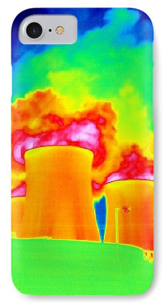 Cooling Towers, Thermogram IPhone Case by Tony Mcconnell