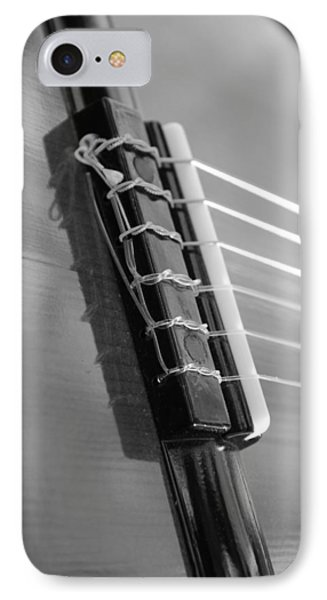 IPhone Case featuring the photograph 6 String Bw by Elizabeth Sullivan