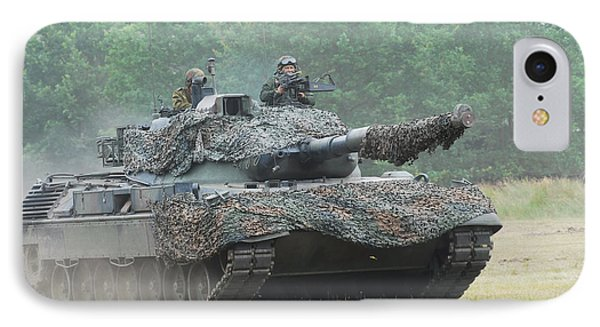 The Leopard 1a5 Main Battle Tank Phone Case by Luc De Jaeger