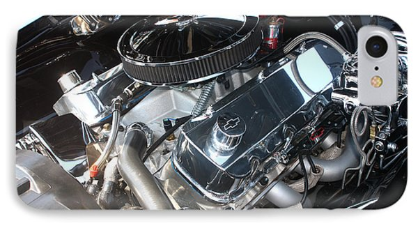 67 Black Camaro Ss 396 Engine-8033 Phone Case by Gary Gingrich Galleries