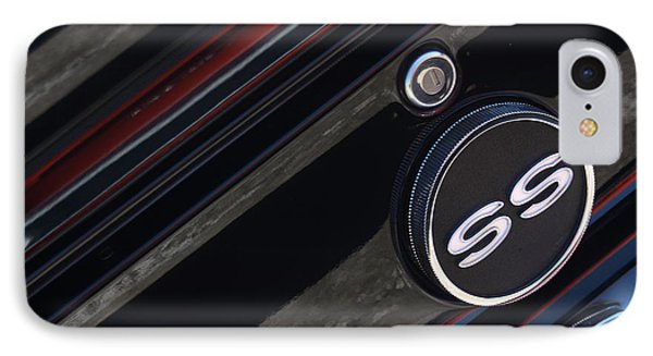 67 Black Camaro Ss Gas Tank-8019 Phone Case by Gary Gingrich Galleries