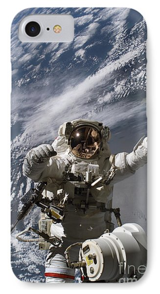 Astronaut Participates Phone Case by Stocktrek Images