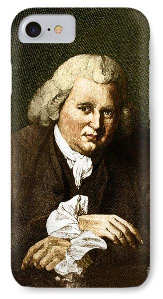 Erasmus Darwin, English Polymath Phone Case by Science Source