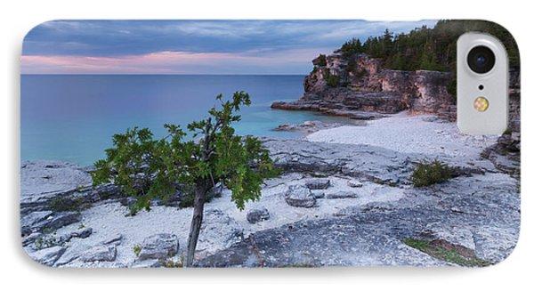 Georgian Bay Cliffs At Sunset Phone Case by Oleksiy Maksymenko