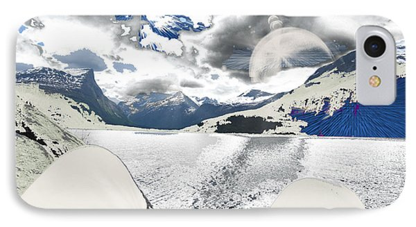 Norway Space Landscape IPhone Case by Augusta Stylianou